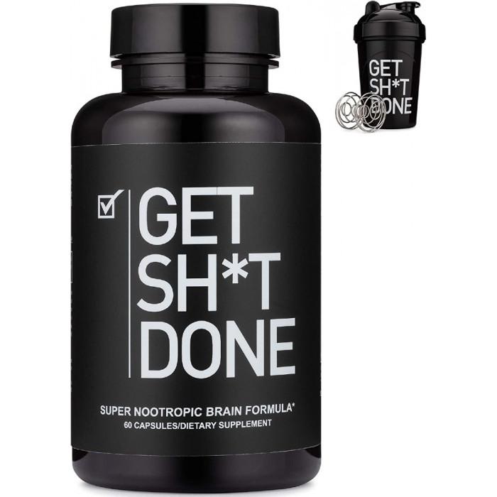 Get Sh*t Done Nootropic Supplement + Shaker Bottle