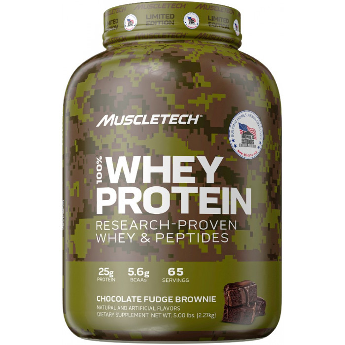 MT 100% Whey - 5lbs Chocolate Fudge Brownie Homes for Our Troops Limited Edition