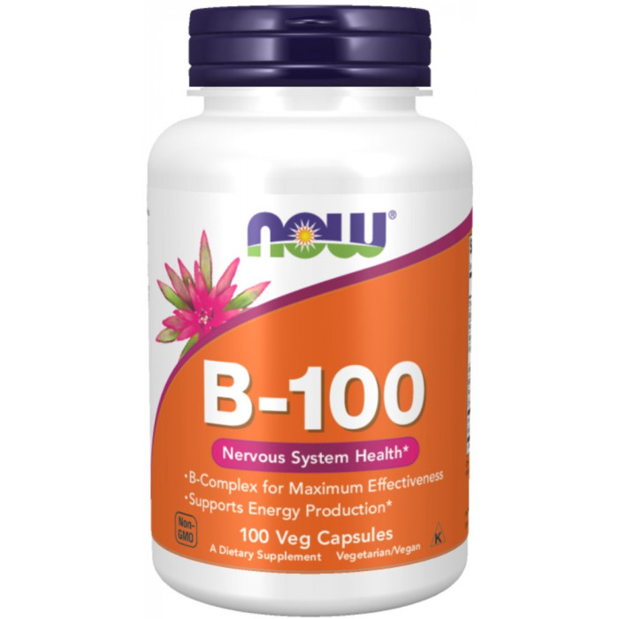 NOW Foods Vitamin B 100mg 100 VCaps