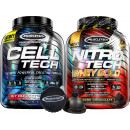 MuscleTech Cell-Tech Performance Series - 6lbs Icy Rocket Freeze / Nitro-Tech Whey Gold Stack