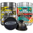 MuscleTech Vapor X5 Next Gen - 30 Servings Raspberry Lemonade / Amino Build Ripped Stack