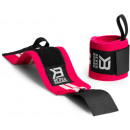 Better Bodies Women's Wrist Wraps One Size Hot Pink/White