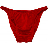 Vandella Flex Cut Velvet Posing Suit Small Red