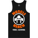 Muscle Beach Nutrition OG Logo Tank Top Small Black