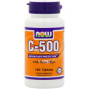 NOW Foods C-500 With Rose Hips - 100 Tablets