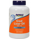Now Foods Cod Liver Oil 650mg 250 softgels