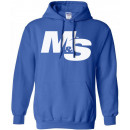 Muscle & Strength Spinal Hoodie Small Blue