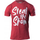 BSN Steal The Show T-Shirt Medium Cardinal Heather