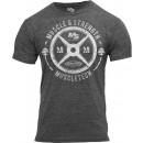 "MuscleTech ""45 Plate"" T-Shirt - Medium Grey"