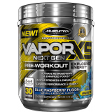MuscleTech Vapor X5 Next Gen 30 Servings Blue Raspberry Fusion
