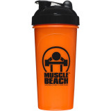 Muscle Beach Nutrition Shaker Cup Orange/Black