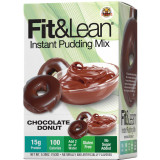 MHP Fit & Lean Instant Protein Pudding Mix 6 Pack Chocolate Donut