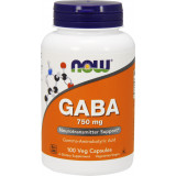NOW Foods GABA , 100 Capsules