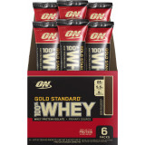 ON 100% Whey Gold Standard Stick Packs 6 Pack Double Rich Chocolate