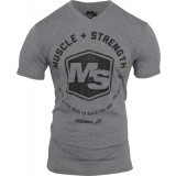 Muscle & Strength Hexagon V-Neck M Dark Heather Grey