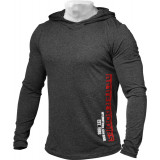 Better Bodies Men's Soft Hoodie Small Anthracite Melange