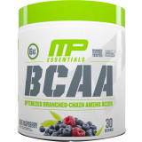 MusclePharm BCAA Essentials Powder 30 Servings Blue Raspberry