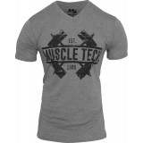 MuscleTech Dumbbell V-Neck - M Dark Heather Grey