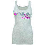 NLA For Her Tank Top Small Grey