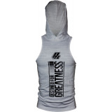 ProSupps DFG Hoodie Tank XXL Heather Grey