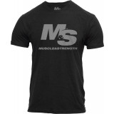 Muscle & Strength Clothing  Spinal T-Shirt Medium Black
