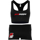 ProSupps Sports Bra & Shorts XS Black
