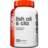 Top Secret Nutrition Fish Oil & CLA With Lipase 120 Softgels