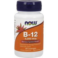 B-12 with Folic Acid, 60 Lozenges