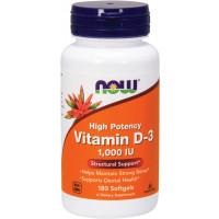 Vitamin D-3 1000IU, 180 Softgels