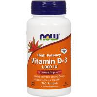 Vitamin D-3 1000IU, 360 Softgels