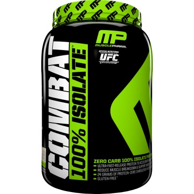 MusclePharm Combat 100% Isolate Protein 2lbs Buy 1 Get 1 FREE!
