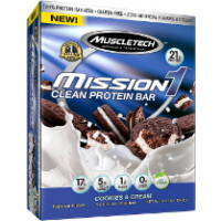 MuscleTech Mission1 Bars, Box of 4