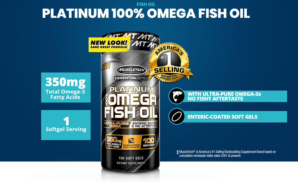 Platinum 100% Omega Fish Oil by MuscleTech: Lowest Prices at Muscle & Strength