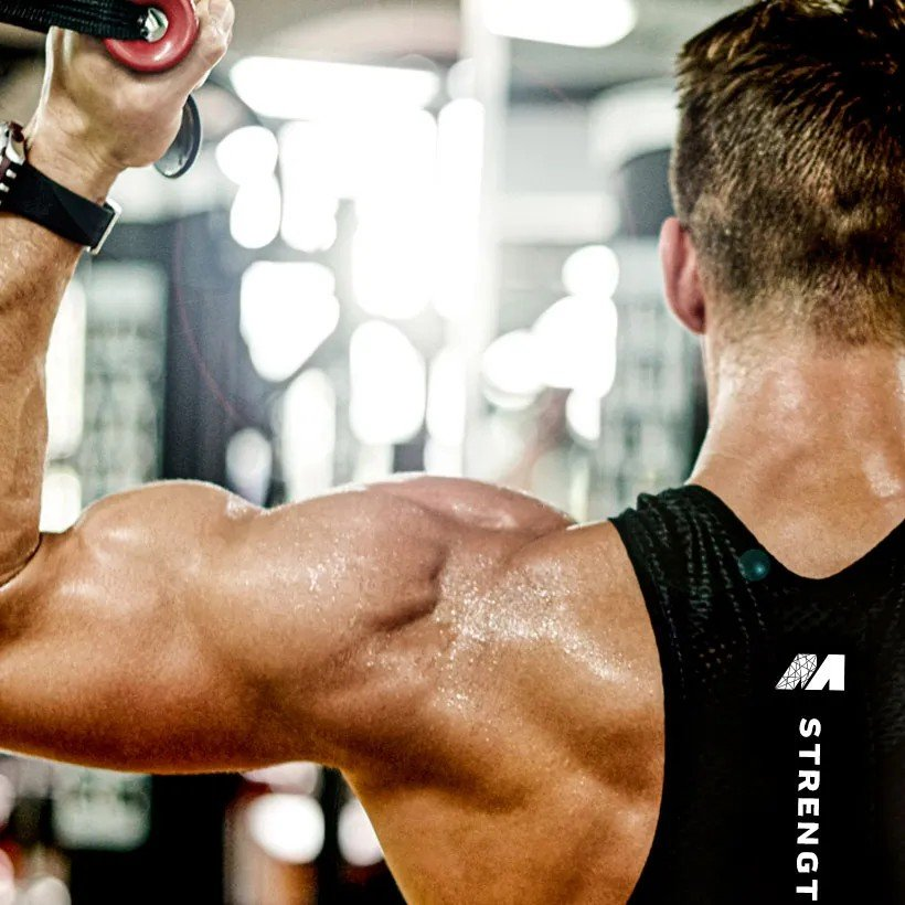 Man Back Workout Cables