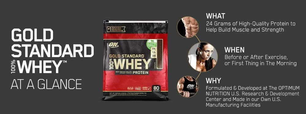Optimum 100 Whey Gold Standard Protein Discount Price Reviews At Muscle Strength