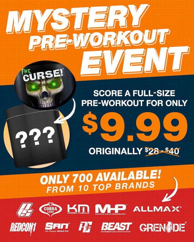 Mystery Pre-Workout Body
