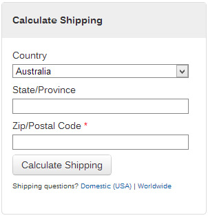 Calculate Shipping