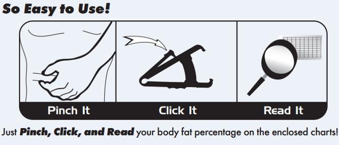 Accu-Measure Bodyfat Calipers Diagram