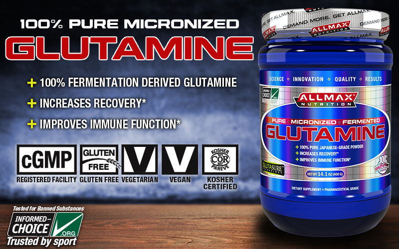 AllMAX Nutrition Glutamine Header