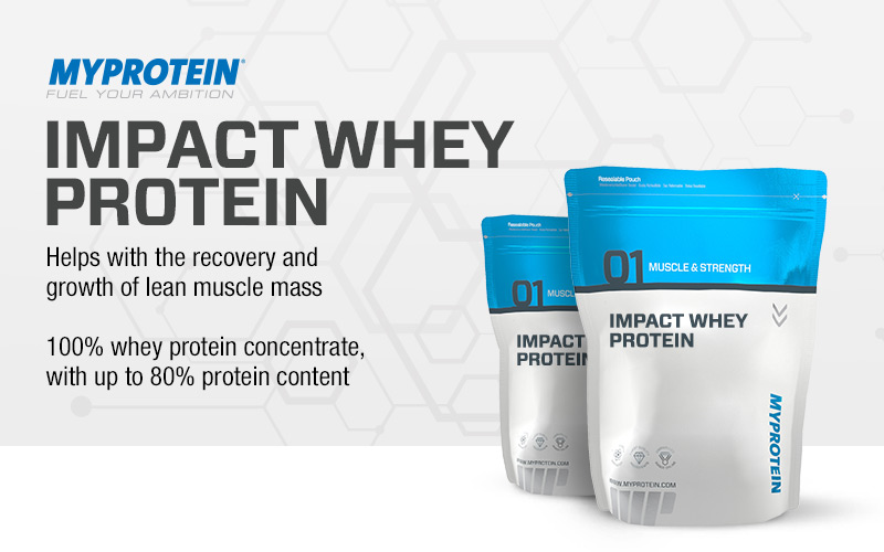 impact whey by myprotein lowest prices at muscle strength. Black Bedroom Furniture Sets. Home Design Ideas
