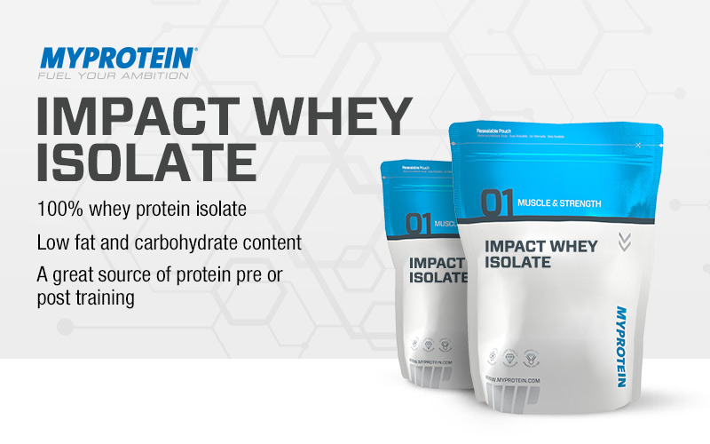 impact whey isolate by myprotein lowest prices at muscle. Black Bedroom Furniture Sets. Home Design Ideas
