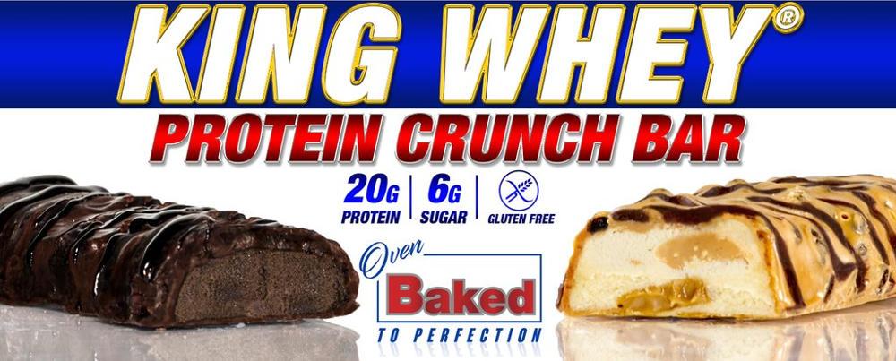king whey protein bar header