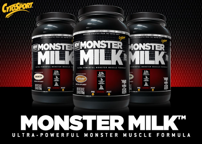 CytoSport Monster Milk Header