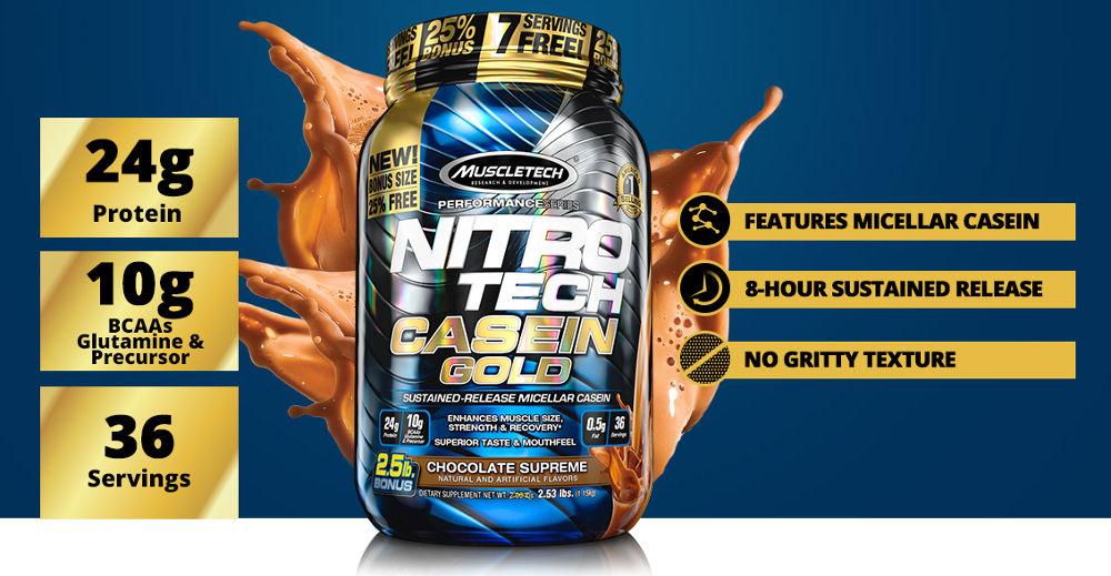 Kết quả hình ảnh cho nitro tech casein gold