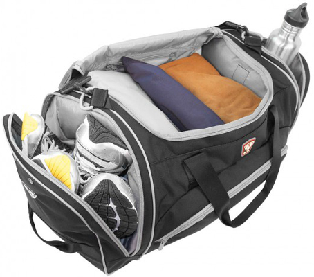 view of a Power Duffel full of gear