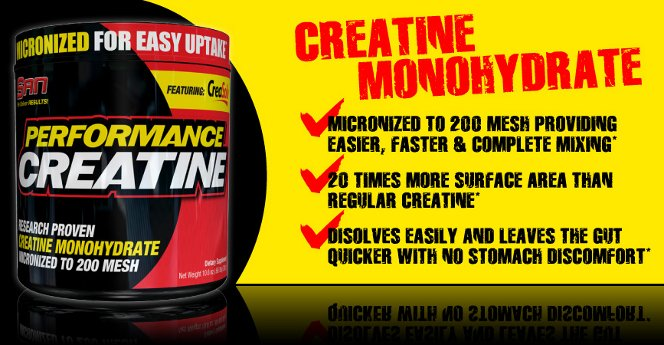 SAN Performance Creatine Header