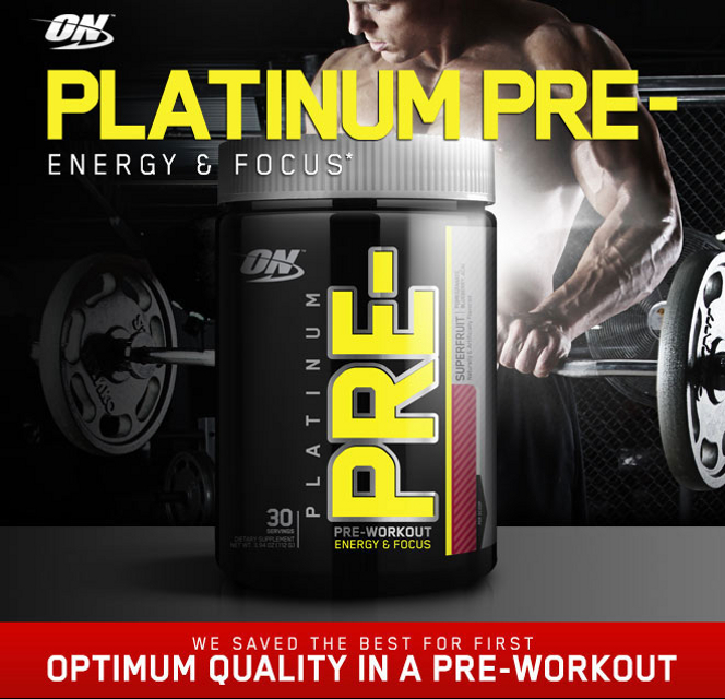 Optimum Nutrition Platinum Pre- Header