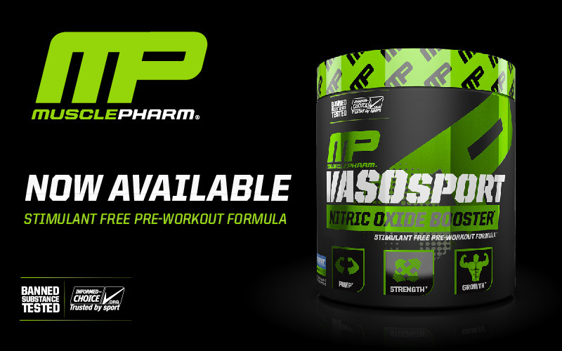 MusclePharm VasoSport Header