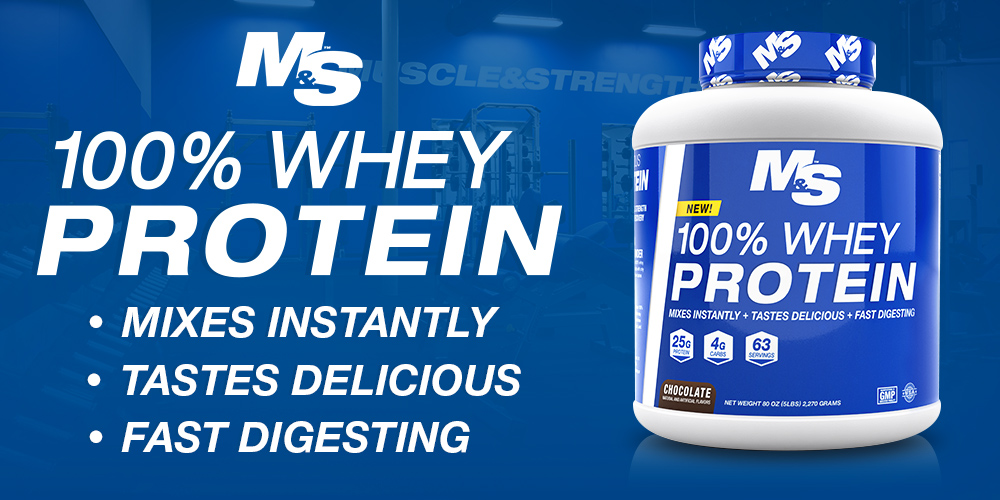 100 Whey Protein By Muscle Amp Strength Lowest Prices At