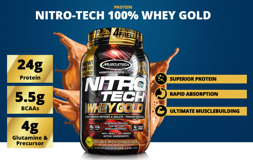 nitro tech whey gold banner